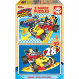 Puzzle Mickey and the Roadster Racer 2 x 25 Piese, Educa