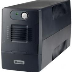 UPS Mustek PowerMust 600EG Line Interactive, 650VA/360W, 2 x Schuko, LED (Negru)
