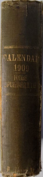 CALENDAR LITERAR SI ARTISTIC PE 1909 foto mare