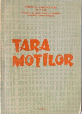 TARA MOTILOR. STUDII, ARTICOLE SI COMUNICARI 1978 foto