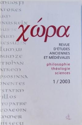 XWPA, REVUE D'ETUDES ANCIENNES ET MEDIEVALES. PHILOSOPHIE, THEOLOGIE, SCIENCES, 1/2003, REVUE ANNUELLE foto