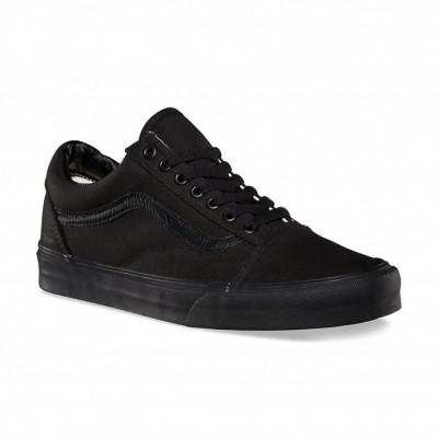 Shoes Vans Old Skool Black/Black canvas foto