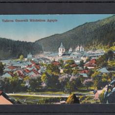 MANASTIREA AGAPIA (MOLDOVA) VEDERE GENERALA CIRCULATA 1917 - Carte Postala Moldova 1904-1918, Tip: Printata