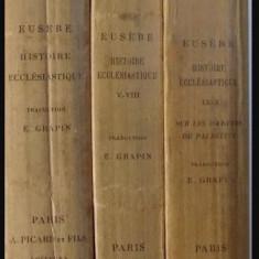 Histoire ecclesiastique/ Eusebius Istoria ecleziastica ed. bilingva gr-fr 3 vol. - Carti Istoria bisericii