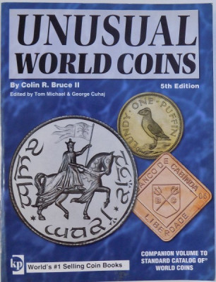 UNUSUAL WORLD COINS by COLIN R. BRUCE II, 5TH EDITION 2007 foto