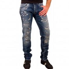 Blugi originali Pepe Jeans W33 L34 - Blugi barbati, Culoare: Albastru, Lungi, Prespalat, Slim Fit, Normal