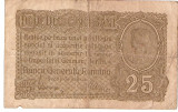 ROMANIA 25 BANI BGR 1917 F