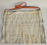 Traista taraneasca lucrata manual din zona Sibiului cu toarta tricolor- folosita