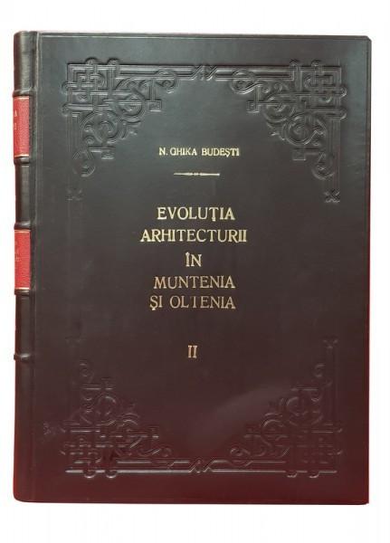 EVOLUTIA ARHITECTURII IN MUNTENIA SI IN OLTENIA . VECHIUL STIL ROMANESC DIN VEACUL AL XVI-LEA de NICOLAE GHIKA BUDESTI , 1931 foto mare