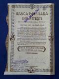 Actiuni Banca populara din Pitesti - 1939 - piesa rara