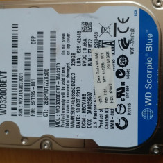 "43.HDD Laptop 2.5"" SATA 320 GB Western Digital 5400 RPM 8 MB, 300-499 GB, Western Digital"