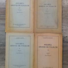 Anuarul arhivei de folklor/ 4 volume