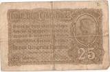 ROMANIA 25 BANI BGR 1917 F SERIE SUPRATIPAR
