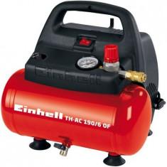 Compresor aer fara ulei Einhell TH-AC 190/6 OF, 1100W, 8bar, 6 l - Compresor electric Einhell, Compresoare cu piston