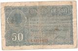 ROMANIA 50 BANI BGR 1917 F