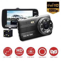 """Camera video auto de 4"""" FULL HD 1080P fata/spate.Multifunctionala"""