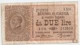 ITALIA 2 LIRE 1914 VF