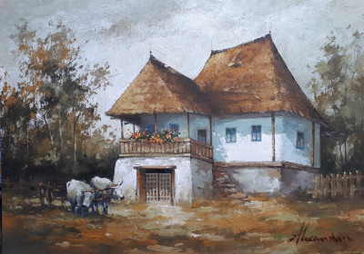 tablou picturå - casa taraneascå foto