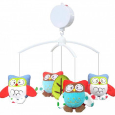 Carusel muzical Owls - Carusel patut Baby Mix, Multicolor
