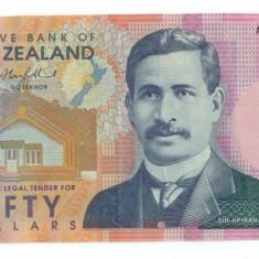 Noua Zeelanda - 50 dolari 2012 Vf+. Polimer, An: 2011