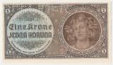 BOHEMIA BOEMIA SI MORAVIA 1 COROANA KORUNA 1940 UNC SPECIMEN - CEHOSLOVACIA
