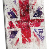 "Tablou pe metal striat ""UK Flag"""