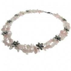 Colier statement cuart roz cu insertii flori, GlamBazaar - Colier fashion