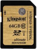 Card memorie Kingston SDXC UHS-I Ultimate 64GB, Clasa 10