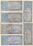 (B.D.G.) LOT 6 BUCATI DE  100 LEI 1966. TAXE - GRATIS