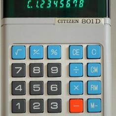 Citizen 801D calculator leduri verzi - 1975 Japan - Calculator Birou