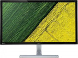 Monitor TN LED Acer 28inch RT280KBMJDPX, Ultra HD 4K (3840 x 2160), DVI, HDMI, DisplayPort, 1 ms, Boxe (Negru/Argintiu), Mai mare de 27 inch