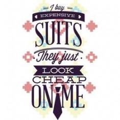 Tricou Expensive suits dama alb, S