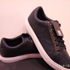Adidas Firetrap Sagan piele naturala - Adidasi barbati Firetrap, Marime: 42, 43, 44, 45, Culoare: Alb, Bleumarin