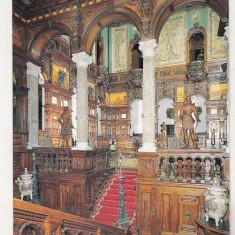 Bnk cp Sinaia - Castelul Muzeu Peles - Holul de onoare - necirculata, Printata