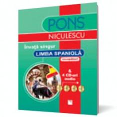 Învață singur limba spaniolă (începători) & 4 CD-uri audio