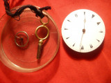 Mecanism de Ceas de Buzunar + cheita - cca 1900 , d= 3,3 cm