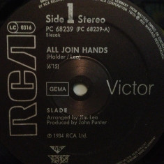 SLADE - ALL JOIN HANDS/HERE'S TO(1984/RCA/W. Germany) - VINIL Maxi-Single