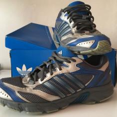 Adidasi Adidas silver-blue, 38, Albastru