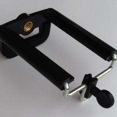 Adaptor / suport telefon sau camera foto compacta pentru trepied 1/4