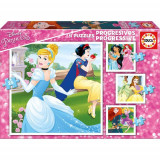 Puzzle Progresiv Disney Princess 73 Piese, Educa