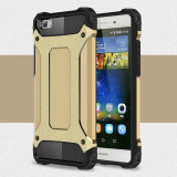Husa Huawei P8 Lite - Hybrid Armour Gold, Gel TPU