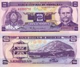 HONDURAS 2 lempiras 1976 UNC!!!