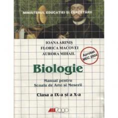 Biologie. Manual pentru scoala de arte si meserii - clasele a-ix-a si a x-a - Manual scolar all