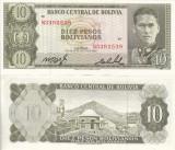 BOLIVIA 10 pesos bolivianos 1962 UNC!!!