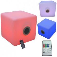 BOXA 3 inch/3W IP44 CU BLUETOOTH 6 LED-URI