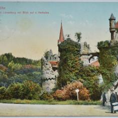 Carte veche postala Kassel Wilhelmshohe - 1908, Germania, Circulata, Fotografie