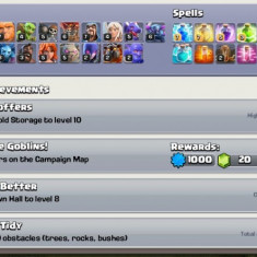 Cont Clash of Clans TH10 8640 GEMS
