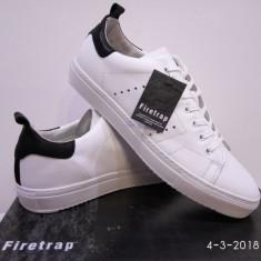 Adidas Firetrap Sousa piele naturala - Adidasi barbati Firetrap, Marime: 42, 43, 44, 45, Culoare: Alb