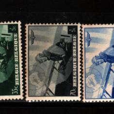 1938 belgia mi 466-470 conditie buna, Nestampilat