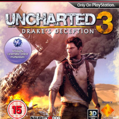 Uncharted 3 Drake's Deception - PS3 [Second hand] - Jocuri PS3, Actiune, 12+, Single player